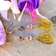 Tiber Boucles d'oreilles Fleur d'or pastel